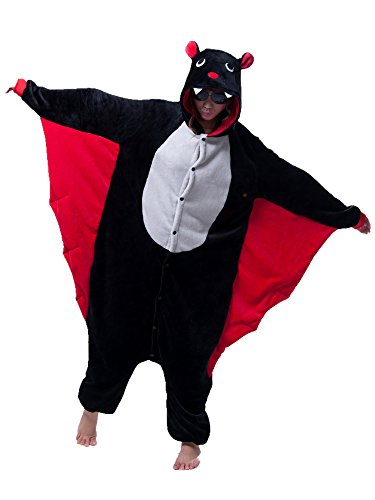 Kika Monkey Tuta intera a forma di animale, pigiama o per cosplay. da adulto, Bat, M