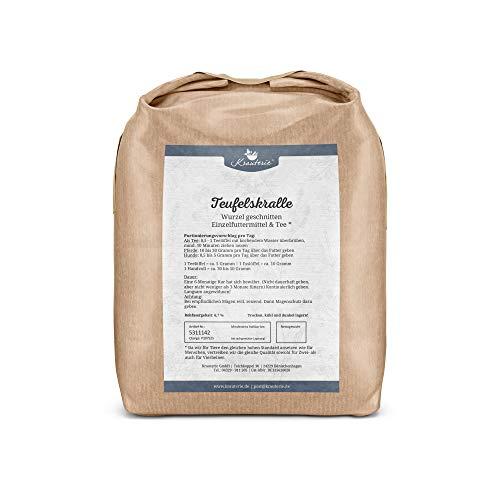 Krauterie Teufelskrallen-Wurzel geschnitten in sehr hochwertiger Qualität, frei von jeglichen Zusätzen, als Tee oder für Pferde und Hunde (Harpagophytum procumbens) – 1000 g