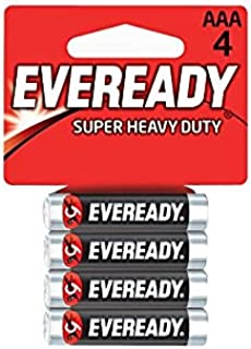 Eveready 1212-4 AAA Carbon Zinc Batteries - 4 Pieces