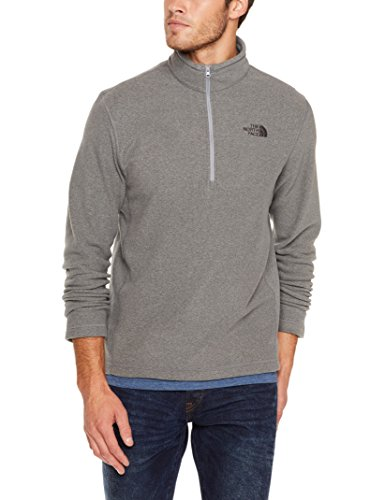 The North Face Men's TKA 100 Glacier Quarter Zip - TNF Medium Grey Heather - S