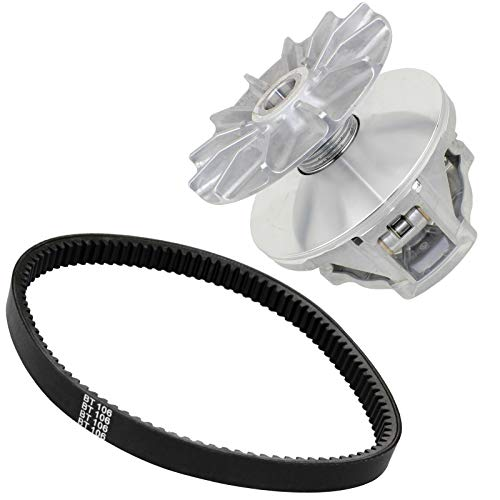 Caltric Complete Primary Drive Clutch W/Belt Compatible with Polaris Sportsman 500 4X4 1998-2002