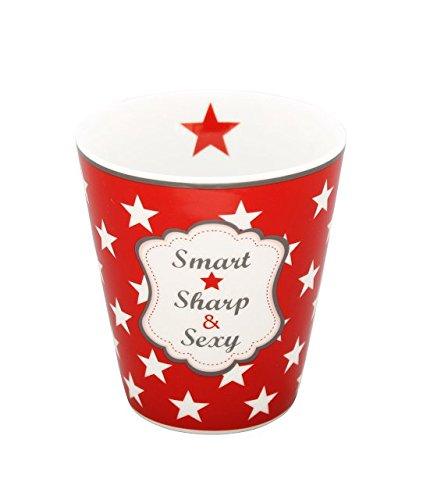Krasilnikoff Happy Mug SMART SHARP SEXY rot Kaffeebecher Teebecher