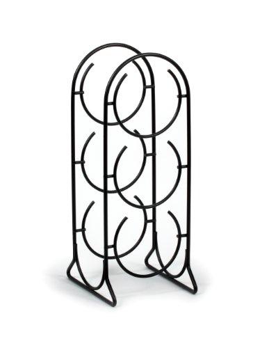 Spectrum Diversified Horseshoe Rack 3 Holder Countertop Storage Holds Standard Jumbo Wine Bottles Modern Kitchen Décor Storage