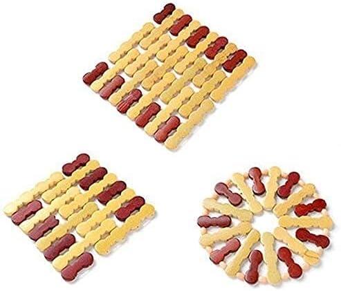 Bamboo Save money Trivet Heatproof Mat Max 59% OFF Kitchen 3 P Protector Worktop