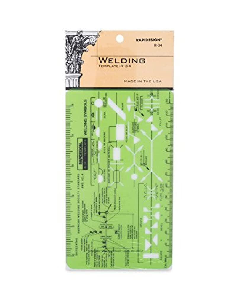 Rapidesign Welding Pocket-Size Template, 1 Each (R34)
