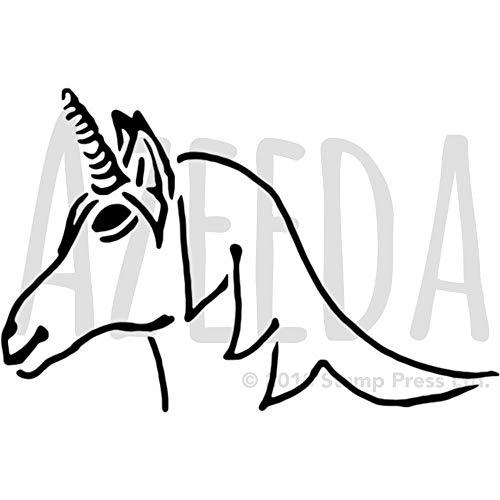Azeeda A5 'Einhornkopf' Wandschablone / Vorlage (WS00034812)