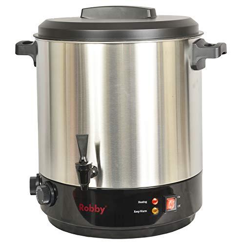 Robby - steri pro inox xl - Stérilisateur de bocaux électrique cuve inox avec robinet et minuteur 31l 2100w