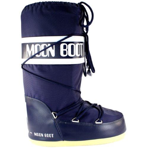 Femmes Moon Boot Tecnica Nylon originales Bottes de neige, Bleu, 39/41 EU