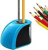 wangji Temperamatite Elettrico/Temperamatite Elettrico Elettrico Temperamatite Automatico con Lame di Ricambio e cacciavite per Schizzi in Classe-Blu