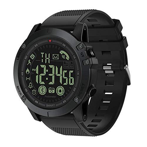 T1 Tact Smartwatches Militärische Klasse Super Tough Smartwatch Bluetooth-Tracker wasserdichte Multifunktions-Smartwatch für Männer Frauen Kompatibel mit Android iOS-Handys (Schwarz)