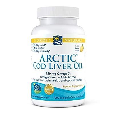Nordic Naturals Arctic Cod Liver Oil 90 Softgels, Lemon