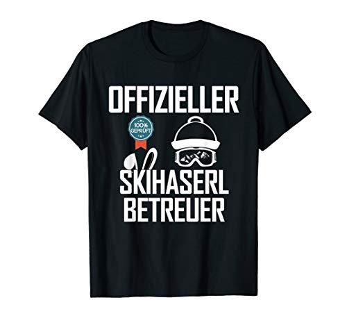 Offizieller Skihaserl Betreuer, Apres Ski Sprüche, Skifahrer T-Shirt
