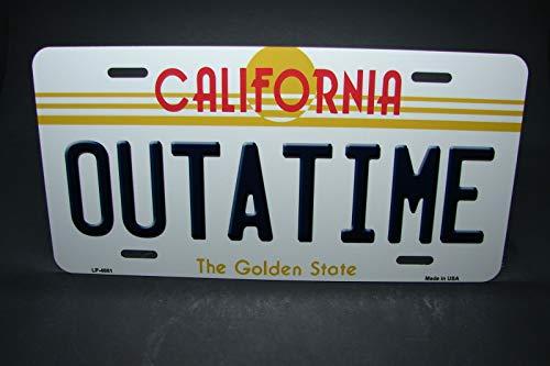 MNUT outatime California Metall Aluminium Auto Kennzeichen Back to the future Nummernschild 15,2 x 30,5 cm