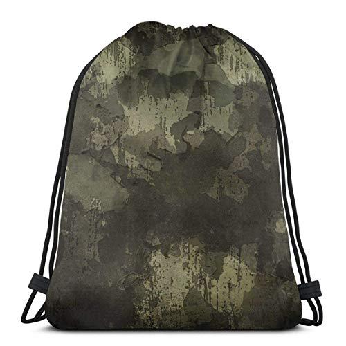 jingqi Tarnung Militär Abstract Reisesackpack,Sport Cinch Pack,Kordelzug Taschen,Sporttaschen Drucken,Gymsack,Leichter Turnbeutel