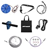 JOYMOR Backyard Zip Line Kit with Detachable Trolley, 304 Stainless Steel Cable, Gear Bungee Brake Block System, Adjustable Safe Belt and Seat (200ft)