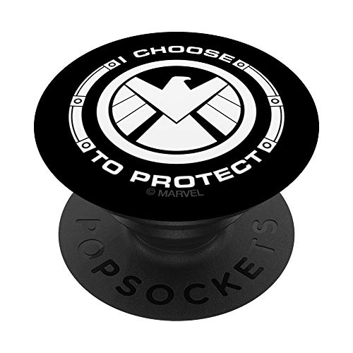 Marvel Agents of S.H.I.E.L.D. I Choose To Protect Eagle PopSockets Agarre y Soporte para Teléfonos y Tabletas