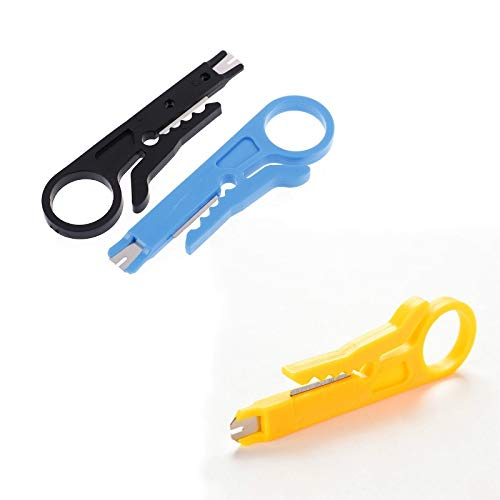 BoKa-Store - 2Pcs Wire Stripper Knife Crimper Pliers Crimping Tool Cable Stripping Wire Cutter Multi Tools Cut Line Pocket Multitool nippers