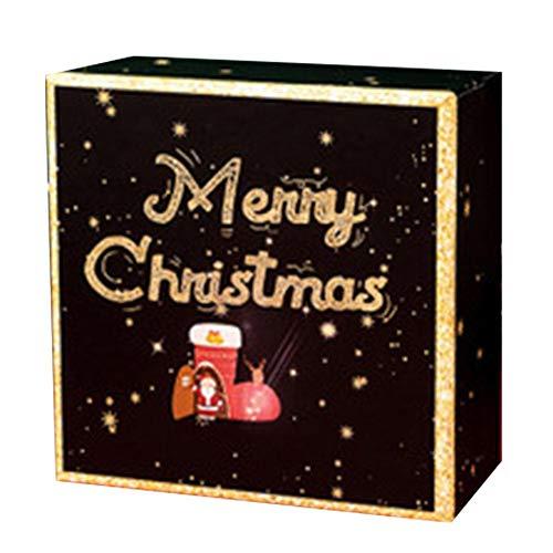 Redpool - Caja de regalo de Navidad, caja de regalo de Navidad, caja de regalo, caja de manzana, caja de cartón, tarro de caramelo para hombres y mujeres, obtén buena simpatía,...