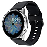 Vozehui Compatible with Samsung Galaxy Watch Active/Active2/ Garmin Forerunner 245 / Vivoactive 3 Band, 20mm Soft Silicone Replacement Band for Gear S2 Classic/Gear Sport Watch for Women Men