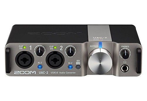 Zoom UAC-2 Two-Channel USB 3.0 SuperSpeed Audio Interface for Mac and PC (Certified Refurbished)
