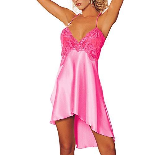 zysymx Camisón de satén camisón con Cuello en v yamamay Ropa Interior para Mujer Body Body sin Espalda Femenino Top Pijama