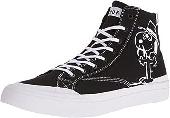 HUF Men s Classic HI Peanuts Skateboarding Shoe Black/White 11 M US