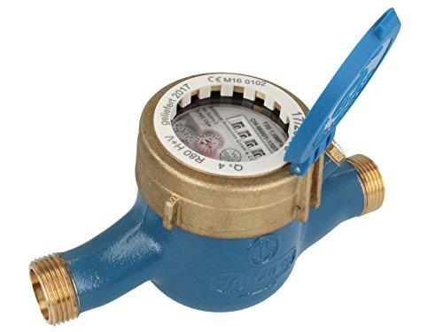 JS Hauswasserzähler MNR 3/4 Zoll DN 20 Q3=2,5, R80, Baulänge 190 mm