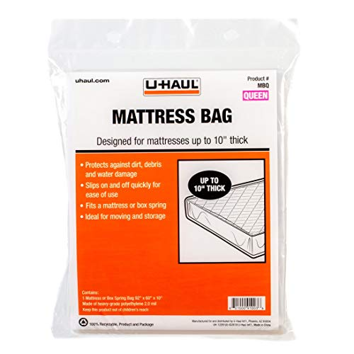 U-Haul Standard Queen Mattress Bag  Moving & Storage Cover for Mattress or Box Spring  92