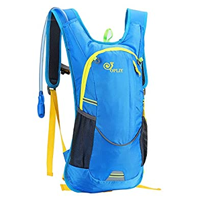 OPLIY Hydration Pack,Hydration Backpack with 2L Hydration Bladder Lightweight Running Water Backpack for Women Men Kids (Blue)