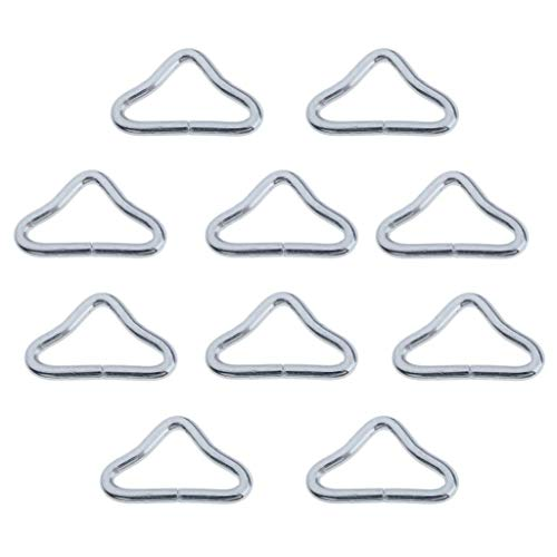 Perfeclan Premium Trampoline Springs 3.5' to 6.5' Thicker Steel,Triangle Rings Buckle For Trampoline Replacement for Trampoline -10x Triangle Rings
