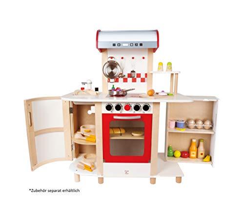 Hape E8018 - Küchentraum, Kinderküche inklusive Zubehör (Topf, Pfanne, Pfannenwender und Schöpflöffel), Spielküche aus Holz - 5
