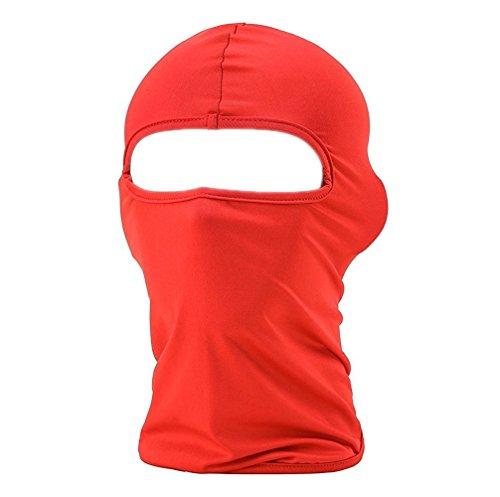 ILOVEDIY Multifunktionen Gesichtsmaske Sport Balaclava Einfarbige Maske Warm Fahrrad Ski Snowboard (Rot)