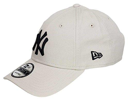 New Era New York Yankees Strapback Pet voor dames en heren, gebogen klep, achterkant, verstelbaar, eenheidsmaat
