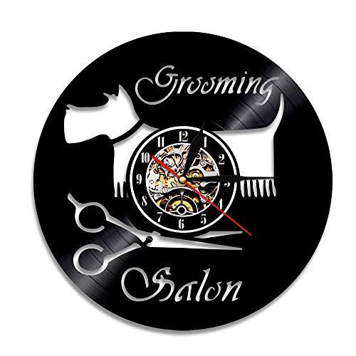 Amo el Gato LED Registro Silencio Campana de Pared Estilo Vintage Gato Reloj de Pared diseño Regalo Amantes del Gato Animal decoración del hogar Reloj