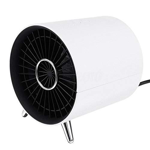 Tragbare Klimaanlage, Elektrische Heizung Keramik Personal Desk Fan Heizung Überhitzungsschutz & Auto Shutdown Für Home Office-Weiß_Eu