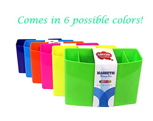 """3 Section Magnetic Organizer/Locker Organizer - Pencil, Pen, Dry Erase Accessory Holder - Dimensions: Approximately 4"""" x 5.5"""" x 1.5"""" (3-Pack, Colors Will Vary) Photo #2"""