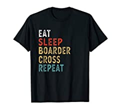 "This funny Eat Sleep Boardercross Repeat outfit for men and women with an funny quote ""Eat Sleep Boardercross Repeat"" is an authentic present for your kids, parents or collegues. Awesome xmas or birthday gift for anyone that loves Boardercross. Are y..."