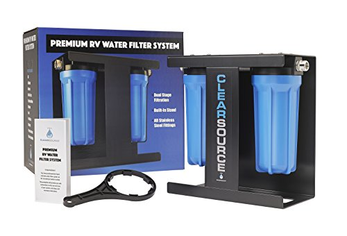 Clearsource Premium RV Water Filter System   Pristine Water. Unparalleled Water Flow. Built-in Stand.