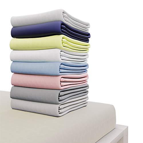 Dreamzie - Spannbettlaken 200x200 cm - 100% Jersey Baumwolle Zertifiziert Oeko-TEX -...