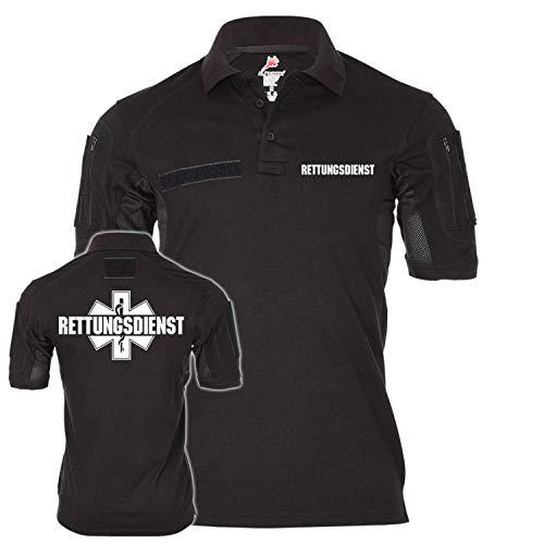 Copytec Tactical Polo Rettungsdienst Sanitäter Artz Notarzt Artzhelfer Assistent Hemd Feuerwehr Uniform Bekleidung #22237, Größe:XXL, Farbe:Schwarz