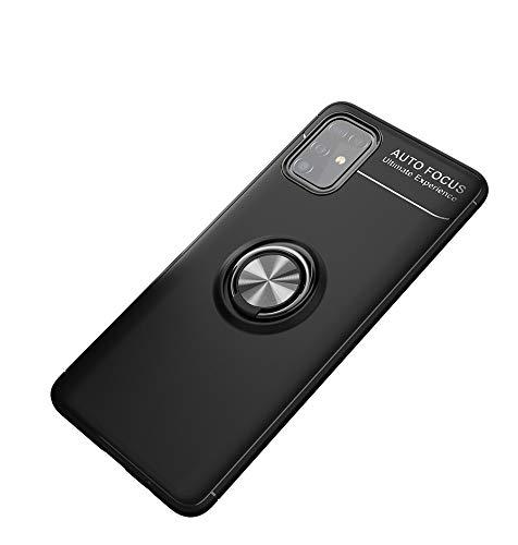 LAGUI Funda Adecuado para Samsung Galaxy S20 Ultra, Soporte de Montaje Magnético del Coche Carcasa Especial, con Anilla Posterior, Pistola Color+Negro