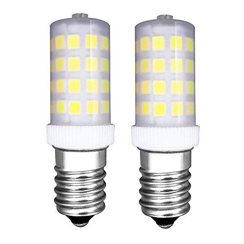 MZMing [2 Stück] E14 LED Glühbirne 4W Kühlschrank Glühbirne-Dimmbar 6000K Helles Kühles Weißes Licht AC220-240V 450 Lumen-Ersatz für 40W Halogenlampe - Niedrige Hitze für Kühlschrank/ Nähmaschine