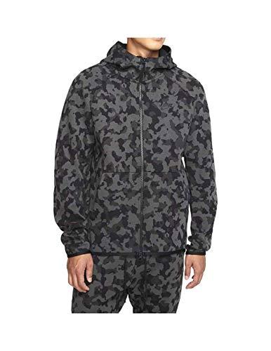 Nike Sportswear Tech Fleece Men's Full Zip Printed Hoodie (Medium) Black
