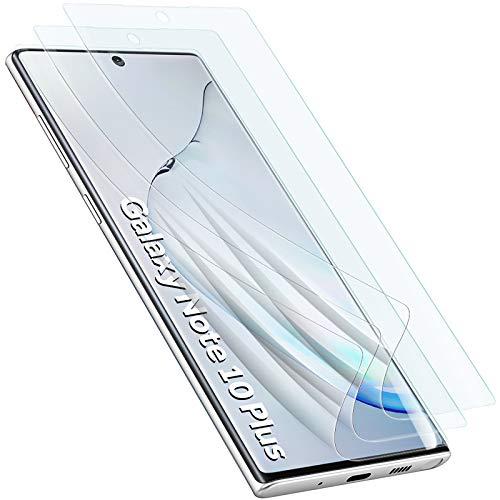 GeeRic Protector de Pantalla Compatible para Samsung Galaxy Note10 Plus (Paquete de 3) Protector de Pantalla Suave Compatible para...