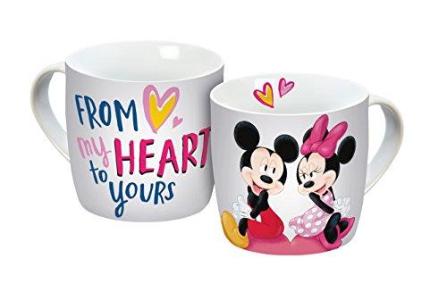 Disney Mickey Mouse My Heart Porzellantasse, Porzellan, Weiß/bunt, 12,3 x 9 x 8,5 cm