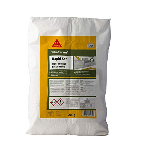SIKA SKCMRS20 SikaCeram Rapid Set - Tile Adhesive for Wall and Floor Tiles,...
