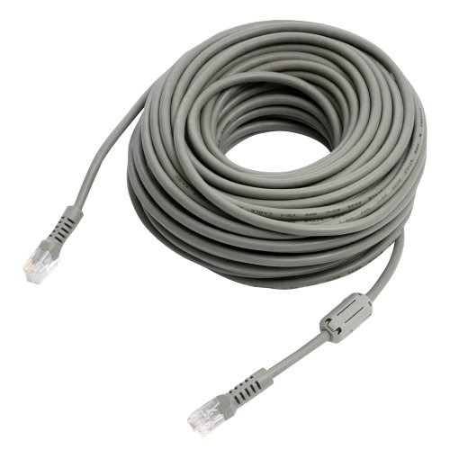 REVO America R10RJ12C 10-Feet Cable with Coupler (Gray) - Power Data Video Extension Cable for Security Cameras
