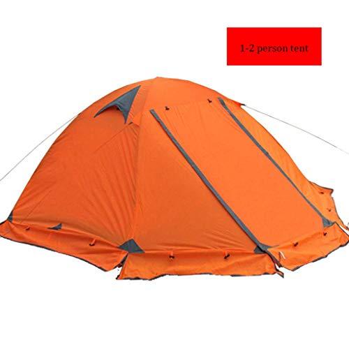LALAWO Outdoor-Zelt-Wintercamping-Camping 2-3-4 Personen doppelt winddichter Regensturm einzelnes doppeltes wildes bewegliches Zelt