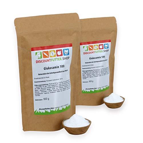 discountfutter.shop Glukosamin 100 (1 kg = 2 x 500 Gramm) - höchste Reinheit
