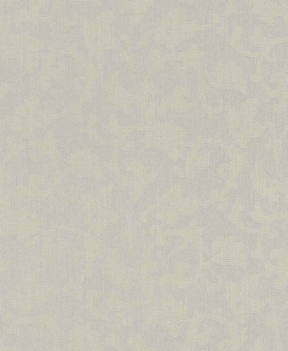 Textiltapete Rasch Textil Sky 074252 floral Barock grün graubeige